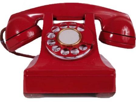 красный телефончик