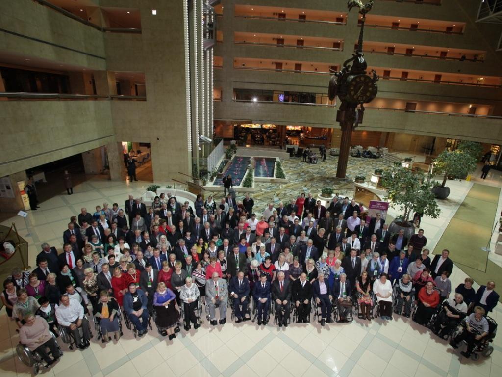 Делегаты VI съезда Всероссийского общества инвалидов г. Москва 11 ноября 2016 года